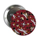 "Cute Bandana Pirate 2.25"" Button (100 Pk)"
