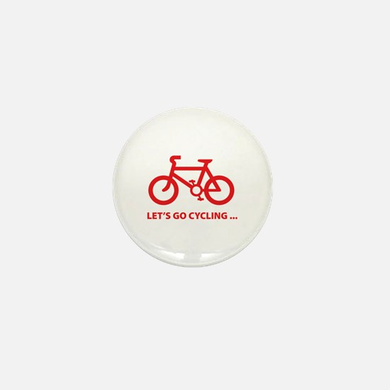 Let's go cycling ... Mini Button