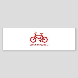 Let's go cycling ... Sticker (Bumper)