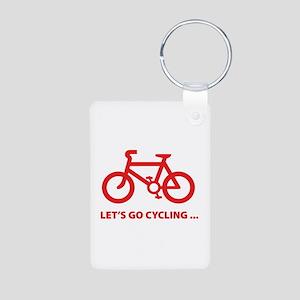 Let's go cycling ... Aluminum Photo Keychain