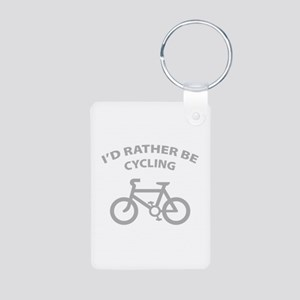 I'd rather be cycling Aluminum Photo Keychain