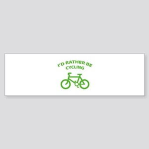 I'd rather be cycling Sticker (Bumper)