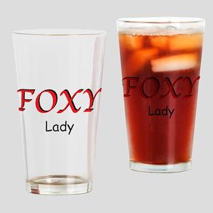 Foxy Lady Drinking Glass