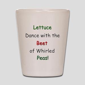 Lettuce dance & Peas Shot Glass