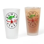 Beet The Clock Drinking Glass