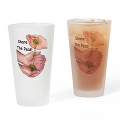 Share The Peas Drinking Glass