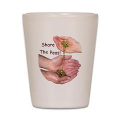 Share The Peas Shot Glass