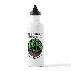 Xmas Peas on Earth Water Bottle