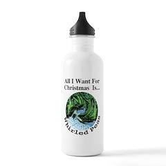 Christmas Peas Water Bottle