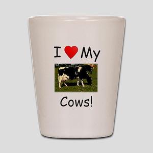 Love My Cows Shot Glass