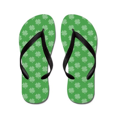 Irish Shamrock Flip Flops
