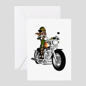 Biker Elf Greeting Card