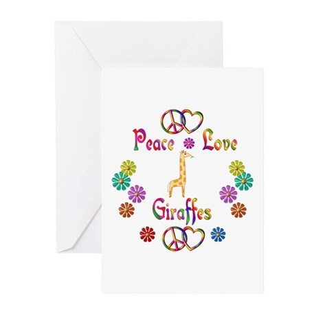 Peace Love Giraffes Greeting Cards (Pk of 10)