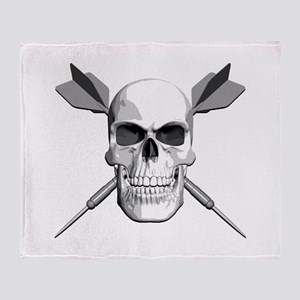 Darts Skull Throw Blanket