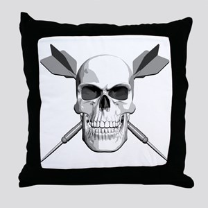 Darts Skull Throw Pillow