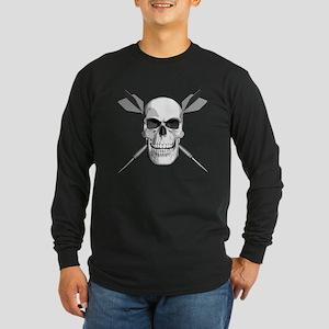 Darts Skull Long Sleeve Dark T-Shirt