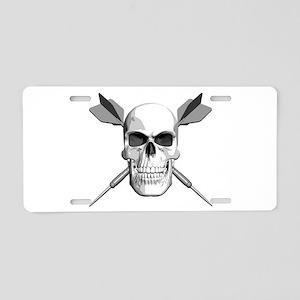 Darts Skull Aluminum License Plate