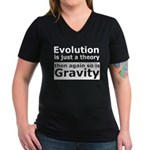 Evolution Is A Theory Like Gravity Women's V-Neck