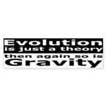 Evolution Is A Theory Like Gravity Sticker (Bumper