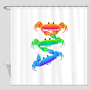 Crabs Hang on Shower Curtain