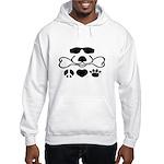 Peace, Love, Dog Unisex Hooded Sweatshirt