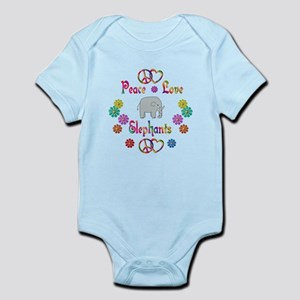 Peace Love Elephants Infant Bodysuit