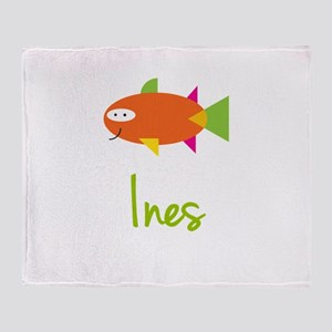 Ines is a Big Fish Throw Blanket