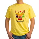 I Love Jam Sessions Yellow T-Shirt