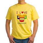I Love Jam Sessions Yellow T-Shirt