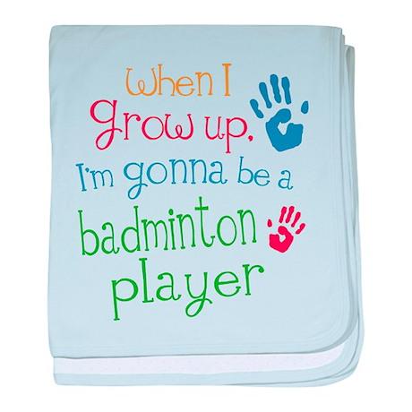 Kids Future Badminton Player baby blanket