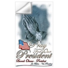 Pray for President Obama Wall Decal