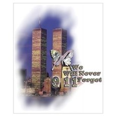 September 11, we will never forget Framed Print