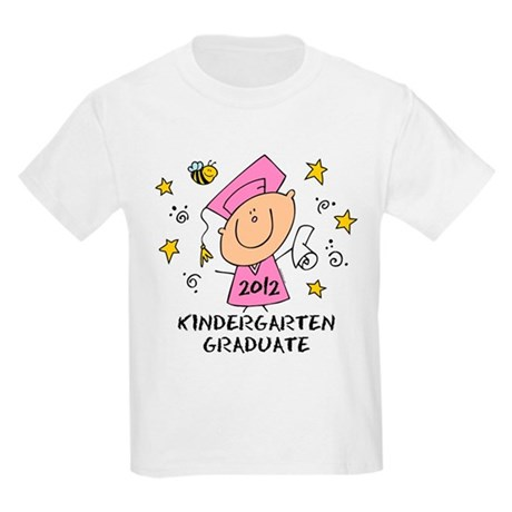 Cute Girl Kindergarten Grad 2012 Kids Light T-Shir