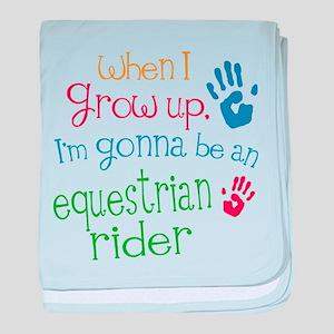 Kids Future Equestrian Rider baby blanket