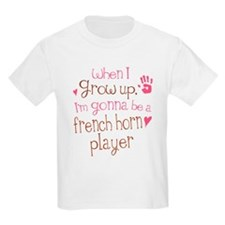Kids Future French Horn Player Kids Light T-Shirt