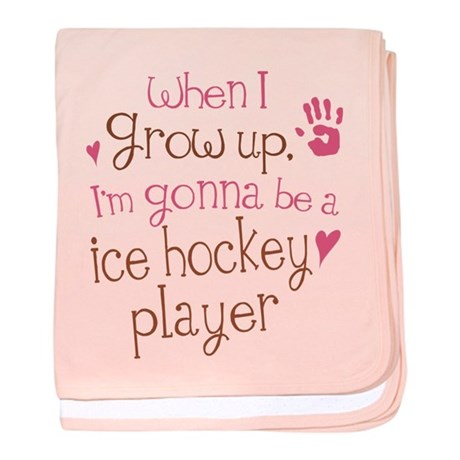 Kids Future Ice Hockey Player baby blanket