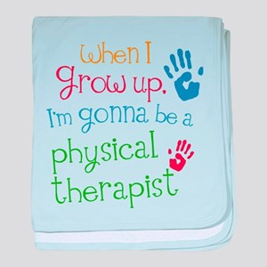 Kids Future Physical Therapist baby blanket
