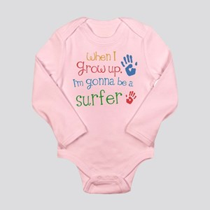 Kids Future Surfer Long Sleeve Infant Bodysuit