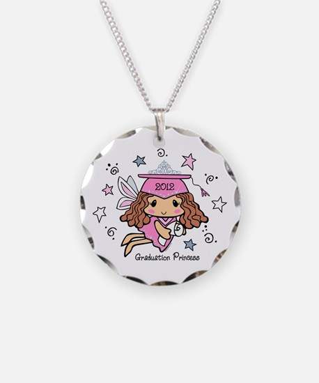 Graduation Princess 2012 Necklace Circle Charm