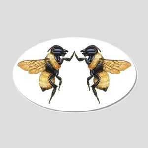 Dancing Bees 20x12 Oval Wall Decal
