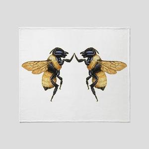 Dancing Bees Throw Blanket