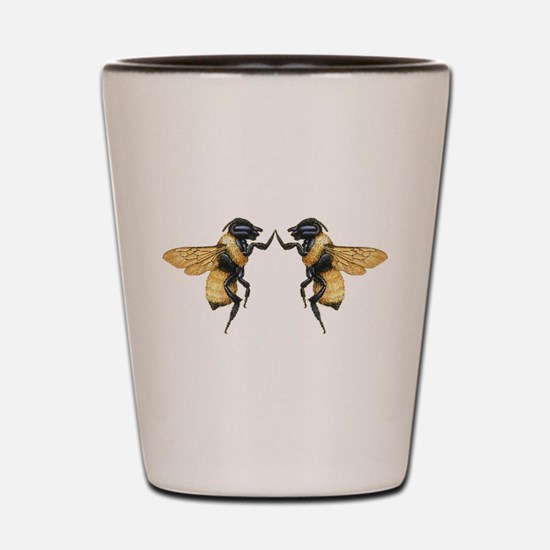 Dancing Bees Shot Glass