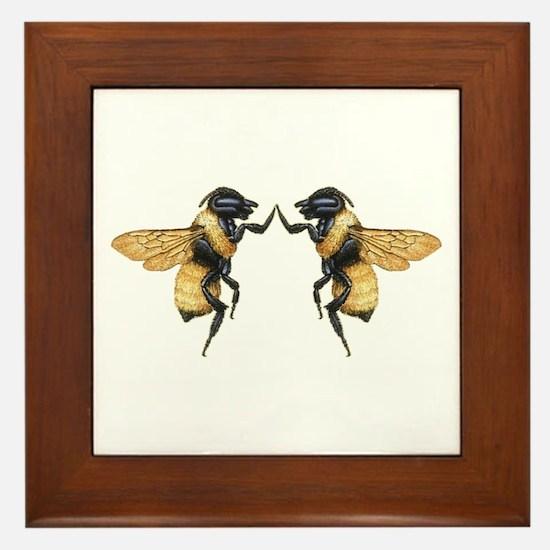 Dancing Bees Framed Tile