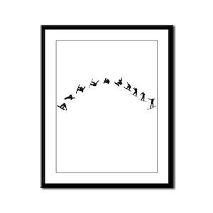 Snowboarding Flip Framed Panel Print