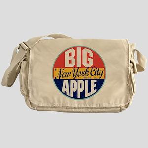 New York Vintage Label Messenger Bag