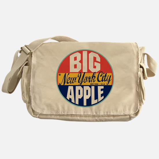 New York Vintage Label Messenger Bag