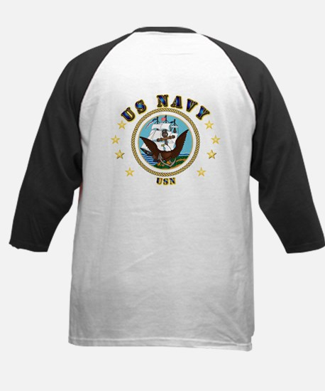 Navy - Lone Sailor - 3D Kids Baseball Jersey
