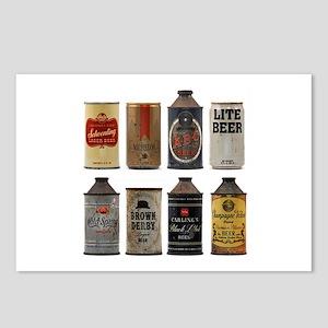 Vintage Beer Cans Postcards (Package of 8)
