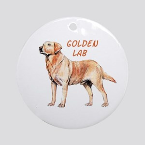 Golden Lab Ornament (Round)