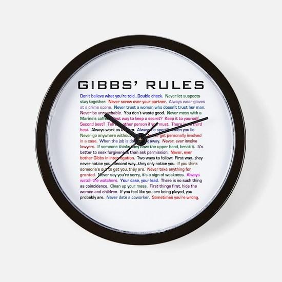 NCIS Gibbs' Rules Wall Clock